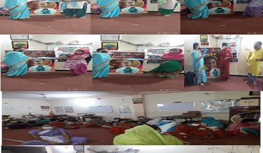 Rang Dhara Youth Development Club in help with Jan Sharanam distributes sanitary napkins to women