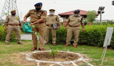 plantation of trees by police commissioner