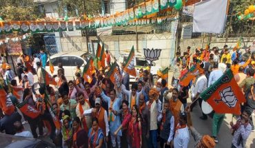 BJP workers put out roadshow for campaigning of Nigam election