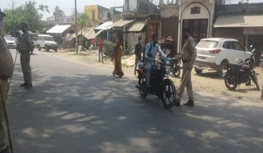 Mask checking campaign near Dhanepur police station